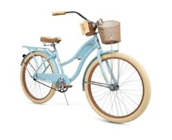 Huffy Nel Lusso Classic Cruiser Bike With Perfect Fit Frame Womenand039s Blue 26