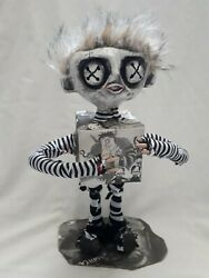 Handmade Art Doll Zombie Macabre Dead Box Troll Unique One Of A Kind Gothic