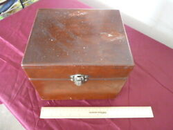 Vintage Rca Wooden Box Brass Hinges And 9 Old Baby Doll Clothing