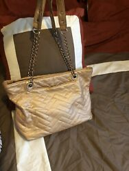 Gold Charming Charlies Purse With Chain Straps
