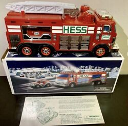 New Hess 2005 Emergency Fire Truck With Rescue Vehicle