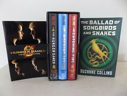 Lot 5 The Hunger Games Series Box Set + Ballad Of Songbirds Suzanne Collins