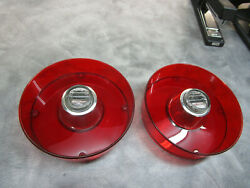 1964 Ford Fairlane 500 Wagon Tail Light Lens Pair Nos With Back Up Light