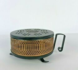 Antique Fire Pot Copper Burner For Cooking Warm Camping Switzerland Metal Foot