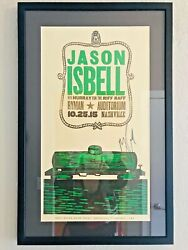 Jason Isbell Signed And Framed Poster Country 2015 Nashville Mint Condition