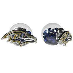 Baltimore Ravens Front/back Stud Earrings Nfl Football Jewelry