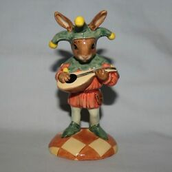 Royal Doulton Uk Made Limited Edition Bunnykins Figure Jester Db161 Box And Cert