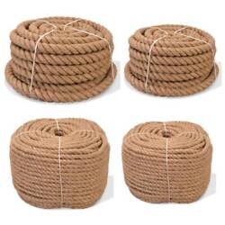 Natural Jute Hessian Rope Cord Braided Twisted Boating Sash Garden Decking Strap