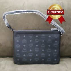 NEW Authentic MCM Pouch Clutch from reversible LIZ shopper set $238.00