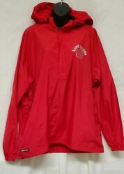 Holloway Windbreaker Pull over Women#x27;s Large Red with Logo #x27;Lady Danes#x27; $18.74