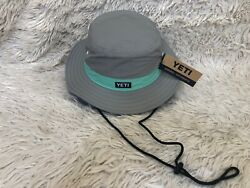 YETI BOONIE BUCKET HAT * GRAY and SEAFOAM * BRAND NEW with TAGS SHIPS FREE $79.99