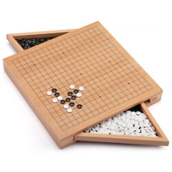 12-inches Wooden Wood Go Board Game Set With Drawers