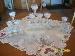 Imperial China And Glassware Vintage Whitney Pattern 22 Piece Libbey Grouping