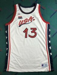 Shaquille O'neal Champion Pro Cut Jersey 96 Olympics Dream Team Autographed Shaq