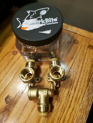 3- Sharkbite 1/2 In Push-to-connect X Fip Brass 90-degree Drop Ear Elbow Fitting