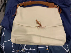 DOONEY amp; BOURKE DILLEN POCKET SAC SHOULDER BAG LARGE HOBO Chalk $99.00