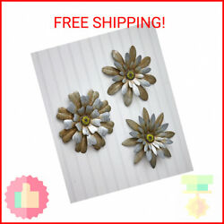 Galvanized Sets of 3 Rustic Hanging Wall Flowers