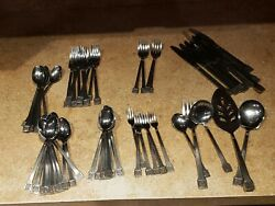 Oxford Hall Stainless Flatware Mixed Lot Japan  58 Pieces. See Photos Nice