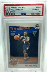 2019-20 Zion Williamson Hoops Red Back Rc Psa 10 Ssp Pop 22