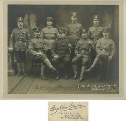 Pittsburgh Pa Military Officers With Swords Antique Photo