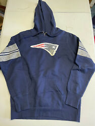 Womens New England Patriots Nfl Team Apparel Blue Gray Hoodie Size Large Nice