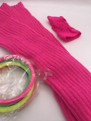 80s Costume Accessories Leg Warmers Net Glove Bangles