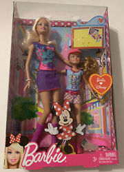 New Barbie Loves Disney Doll Set Barbie And Stacie Dolls Minnie Mouse Outfits