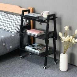 End Tables Set Of 3 Shelf Storage Accent Table Night Bed Stand Storage Stand