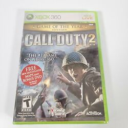 New Sealed Call Of Duty 2 Game Of The Year Edition W/ Bonus Dvd And Maps Xbox 360