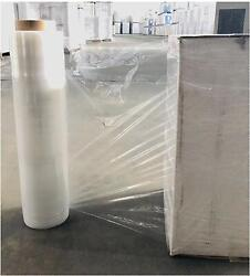 18-20 1500and039-2000and039 60-120 Gauge Clear Hand Movers Stretch Wrap- 200 Rolls