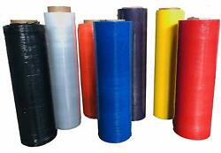 18-20 1500and039-2000and039 60-120 Gauge Color Hand Movers Stretch Wrap- 200 Rolls