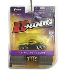 Jada Toys D-rods 1941 41 Willys Coupe Gray/gold 2006 Wave 2 Die Cast 1/64 Scale
