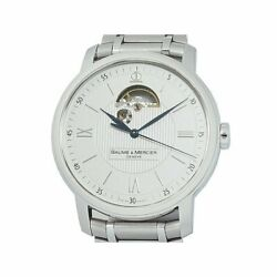 Baume And Mercier Classima Executive Moa08833 White Dial Automatic Menand039s Watch