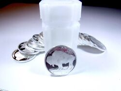Roll Of 20 1 Oz. Buffalo-indian Head .999 Fine Silver Rounds Ae-505