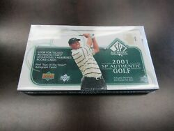 2001 Upper Deck Sp Authentic Golf Sealed Hobby Box 24 Packs Tiger Woods Rookie
