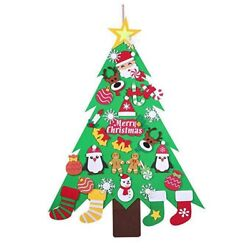 30xnew Year Gifts Kids Diy Felt Christmas Tree Decorations Christmas Gifts For