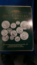 Us Coins Of The 20th Century Complete 45 Coins And 34 Stamps Postal Commemorative