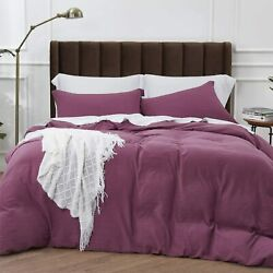 Bedsure Duvet Covers Queen Size With Zipper Closure Ultra Soft Comforter Cover