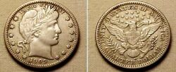 Rare 1909o Barber Quarter- Choice Xf Condition....light Edge Tone....exquisite