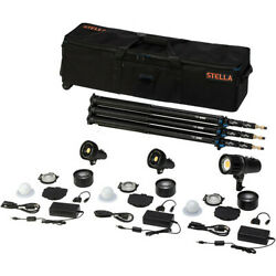 Light And Motion Stella Pro 225 Rf 3-light Kit With Accessories - Brand New