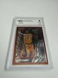 1996-97 Topps Finest Kobe Bryant Rookie Card 74 With Coating - Bccg 9 Nm+
