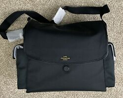 Coach Baby Messenger Diaper Bag Black 99292 Diaper Tote NWT $299.99
