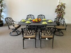 Elizabeth Patio 7pc Dining Set With 42x72 Rectangular Table - Mixed Chairs