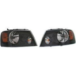 Set Of 2 Headlights Lamps Left-and-right For F150 Truck Lh And Rh Ford F-150 Pair