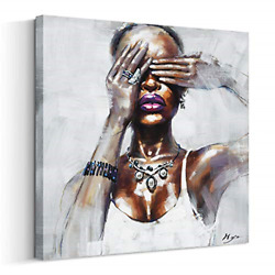 Artinme Canvas Wall Art African American Wall Art Black Art Painting on Canvas x