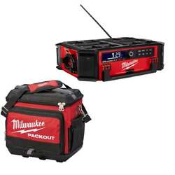 Milwaukee-2950-20cooler M18 Packout Radio + Charger And Cooler Bundle