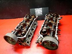 97-01 Camry Engine Motor Cylinder Head Left And Right W/ Cam And Sprocket 3.0l1mz-fe