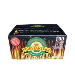 Lightning Nugget Fire Starter Nuggets Non-toxic Wood Stove Fireplaces 100-count