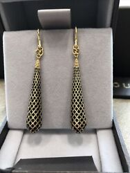 Authentic Otissima D18kt Gold Earrings, Model Ybd298244, Box And Papers