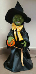 Halloween Witch Time Animated Vintage Witch Motionette 1989 In Original Box